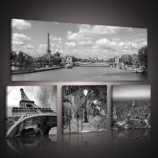 SET (4 teilig)  Leinwandbild Wandbild Foto STADT PARIS EIFFELTURM 3FX10275S15