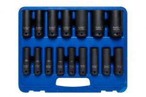 "BlueSpot 16pc Deep Impact Socket Set 10mm - 32mm 1/2"" Drive Metric 6pt Sockets"