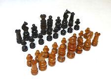 Gedrechseltes Schachspiel im Kasten um 1860 Holz Schach