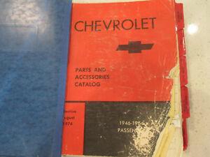 CHEVY CHEVROLE GM GENERAL MOTORS DEALER PARTS CATALOG BOOK 1946-1964 PASSENGER