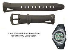Cinturino Casio Originale Caucciù Nero Ansa 16 Mm. Modello STR-300C STR-300