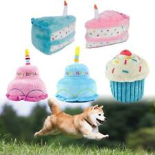 Pet Dog Cat Cute Plush Birthday Cake Doll Bite-resistant Play Squeaky Chew Toy