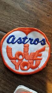 1960'S VINTAGE ORIGINAL HOUSTON ASTROS I LOVE YOU BASEBALL CLOTH PATCH RARE