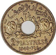 SYRIA 2 1/2 Piastres 1940 (a) KM#76