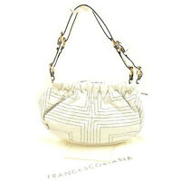 Francesco Biasia Shoulder bag White Black Woman Authentic Used Y7039
