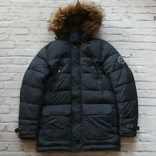 Abercrombie & Fitch Puffer Down Jacket Size L Snorkel Fur Hood Winter