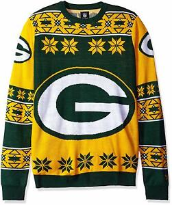 Forever Collectibles NFL Unisex Green Bay Packers Big Logo Ugly Sweater