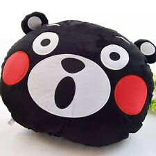 Hot Japan Kumamon Plush Black Bear Doll Pillow Cushion Cute Shock Face L 50*40CM