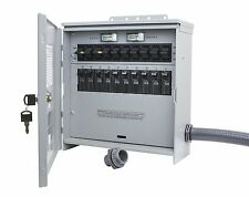 Outdoor 12500-Watt  Generator Transfer-Switch 125/250-V 50-Amp 10-Circuit CS6375