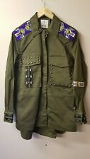 PINKO Freddare Fil Military Jacket-Dark Green Size 42 (UK10) rrp £395