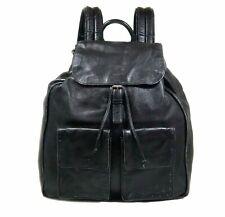 SAINT LAURENT Black Nino Double Front Pocket ' Used look' Backpack