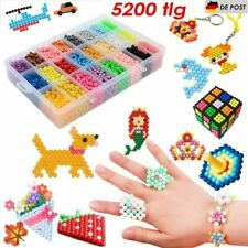 5200X Aqua Beads Glitzer Basteln Kinder Bastelset Perlen Glitzerperlen Geschenk