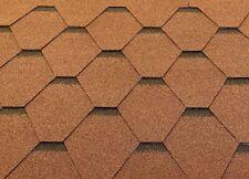 Dachschindeln Hexagonal Dreieck Form 15 m? Braun (5 Pakete) Schindeln Dachpappe