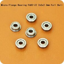 Micro Flange Deep Groove Ball Bearing F682-ZZ 2x5x2.3mm Full Ball Bearing Steel