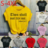Women Fashion O-Neck Letter Print Short Sleeve T-Shirt Tops Blouses Casual CA