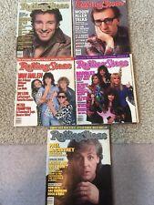 Rolling Stone  1986 987 Lot of 5 Magazines Van Halen Springsteem Bangles U2 More