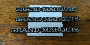 1984-1986 Mercury Grand Marquis Emblem Logo Badge SET with metal emblem 3 piece