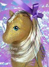HQG1C Sea Glimmers Custom G1 Vintage MLP Style Sea Pony 💙 GLITZY WAVES 💙 MIP!