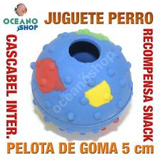 JUGUETE PERRO PELOTA GOMA RECOMPENSA SNACK CASCABEL INTERIOR 5 cm L152 2572
