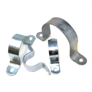 PIPE SADDLE CLAMP 60mm - 165mm HEAVY DUTY ZINC PLATED STEEL STRONG PIPE CLAMP Y2