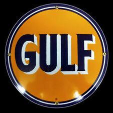 Gulf Gasoline Porcelain Advertising Sign
