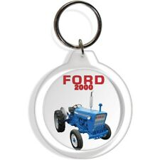 FORD GARDEN FARM INDUSTRIAL TRACTOR KEYCHAIN KEY CHAIN RING 2000 EQUIPMENT PART