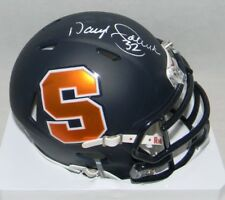 DARYL MOOSE JOHNSTON AUTOGRAPHED SIGNED SYRACUSE NAVY SPEED MINI HELMET JSA