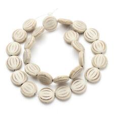 26pcs/pack Diameter 1.5cm Round Flat Turquoise Stone Beads Loose Spacer Bead DIY