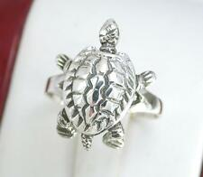 STERLING SILVER MOVABLE TORTOISE RING size 7 TURTLE  style# r1141