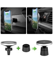 Magnetic car wireless charger mobile phone bracket vent clip W5