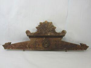 Antique Eastlake Wooden Furniture Pediment/Bonnet #1