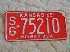 ANTIQUE 1965 KANSAS LICENSE TAG/PLATE - #75210   MIDWAY USA