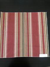 Ralph Lauren Cotton Jumpseat Stripe Red Fabric Sample Remnant
