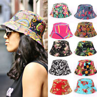 Womens Bucket Hat Fishing Hiking Camping Beach Boonie Cap Floral Hats Outdoor