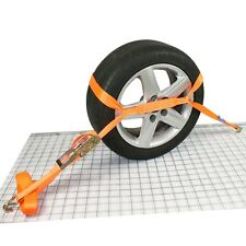 Trailer Car Transporter Recovery Ratchet Straps Reinforced Alloy Wheel Link x4
