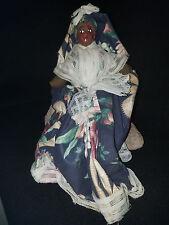 Vintage Black Americana Composition Head Rag Carribean Plantation 1950s Doll