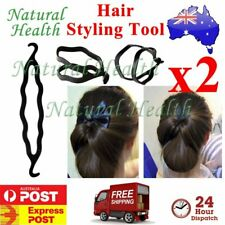 2 x Magic Beauty Twist Hair Bun Styling Tool Maker Braid Clip Accessories Stick
