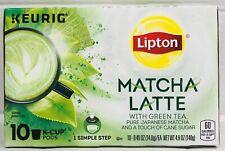 Lipton Matcha Latte Keurig K Cup Cups 10 ct 4.9 oz