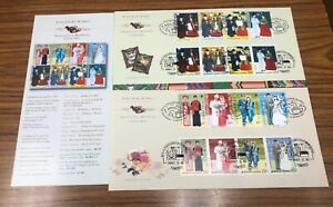 Singapore Korea 2007 Joint Issue 2 Country Joint FDC Pair Costumes