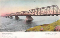Victoria Bridge, Montreal, Canada, Early Postcard, Unused