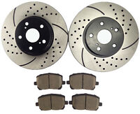 Front Brake Rotors & Ceramic Pads for 2003 - 2006 2007 2008 Toyota Corolla Vibe