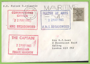 G.B. 1983 H.M. Forces S. Atlantic, Maritime Mail, HMS Broadsword Frigate Sqn.