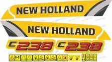 New Holland C238 Skid Steer Loader Decal / Adhesive / Sticker Complete Set