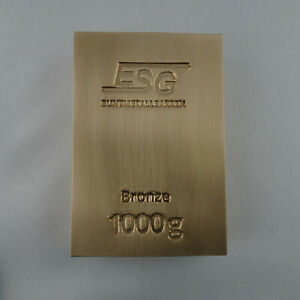 1 Kg Bronze (CuSn6) Barren ESG - Gussfrisch