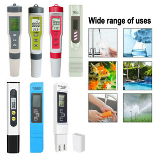 Water Quality Purity Testing Pen PH Meter LCD Digital PH/EC/TDS/TEMP Tester