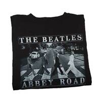 YOUNG MEN'S THE BEATLES ABBEY ROAD GRAPHIC T-SHIRT BLACK TEE SMALL NEW!