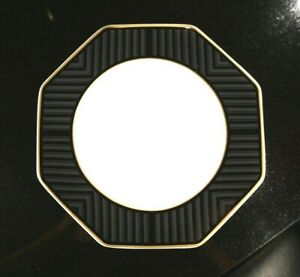 Beautiful Art Deco Villeroy Boch Heinrich Black Pearl Rimmed Soup Bowl