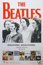 """BEATLES """"REMASTERED. REDISCOVERED LTD. ED. 9.9.09"""" HONG KONG, CHINA PROMO POSTER"""
