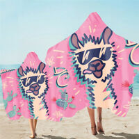 Cute Unicorn Llama Alpaca Keep Amazing Hooded Towel Cape Bath Swim Beach Gift