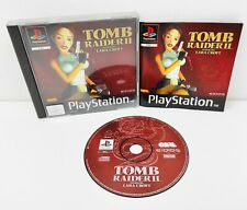 Tomb Raider 2 II Sony Playstation PS1 One Black Label   COMPLETE    TESTED